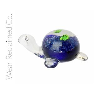 Blown Glass Turtle Paperweight | Unique Gift